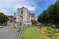 The Sainte-Waudru Collegiate Church in Mons, Belgium Stock Images