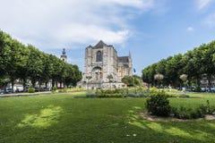 Sainte-Waudru den college- kyrkan i Mons, Belgien Royaltyfri Fotografi