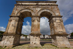 Saintes germanicus roman arch. Germanicus roman arch of the ville of Saintes in french charente maritime region Royalty Free Stock Image