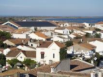 Saintes-Maries-de-la-Mer przegląd, Francja obrazy royalty free