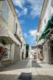 Saintes-Maries-de-la-Mer street view Stock Images