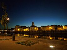 Saintes by night Royalty Free Stock Images