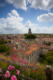 Saintes panoramic view. Panoramic view of the town of Saintes in France Royalty Free Stock Photo