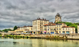 Saintes, a town on the banks of the Charente River Royalty Free Stock Image