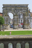 Saintes, a town on the banks of the Charente River Stock Photos