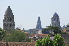 Saintes, a town on the banks of the Charente River Stock Photo