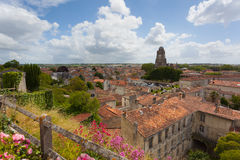 Saintes view. Panoramic view of the town of Saintes in France Royalty Free Stock Photos