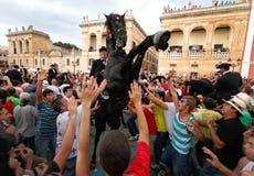Saintjohn horse festivity Stock Image