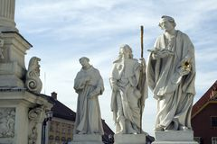 Saints. Statue of Jesus Christ and apostols on the city street Royalty Free Stock Image