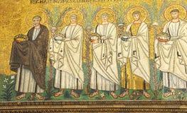 Saints bearing laurel crowns Stock Photography