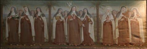 Saints carmélites photographie stock