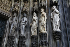 Saints at the cathedral of Cologne Royalty Free Stock Photo