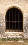 Saints Cosmas and Damian chapel door in Gigondas. Door of the romanesque chapel of Saints Cosmas and Damian, 16th century, in Gigondas, Vaucluse, Provence-Alpes royalty free stock photo