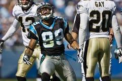 Saints de NFL la Nouvelle-Orléans contre des panthères de la Caroline Image libre de droits