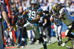 Saints de NFL la Nouvelle-Orléans contre des panthères de la Caroline Photo libre de droits