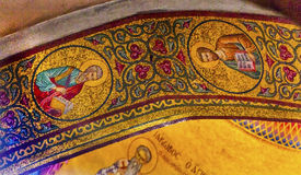 Saints Dome Crusader Church Holy Sepulcher Jerusalem Israel. Saints Dome Crusader Church of the Holy Sepulcher Jerusalem Israel. Church expanded in 1114 to 1170 stock images