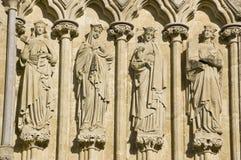 Saints féminins, cathédrale de Salisbury Image libre de droits