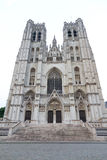 Saints Michael and Gudule in Brussels Stock Photos