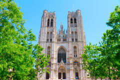 Saints Michael and Gudule in Brussels Stock Photo
