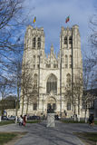 Saints Michel et Gudule cathedral in Brussels Royalty Free Stock Photos