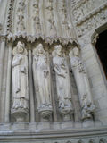 Saints of Notre Dame de Paris Royalty Free Stock Image