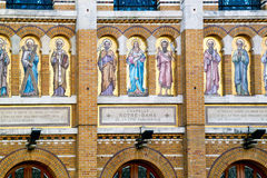 Saints. Paints of saints int he facadde of the Our Lady of Paris Chapel Royalty Free Stock Photo
