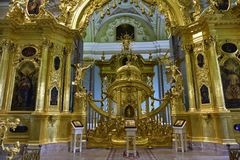Saints Peter and Paul Cathedral, Saint Petersburg, Russia Stock Photos