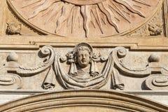 Saints Peter and Paul Church, details of facade, Krakow, Poland. Stock Image