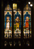 Saints Pope Stained Glass Cathedral NYCNew York Stock Photography