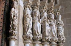 Saints - Portugal. Saints at the door of a Church in Portugal Royalty Free Stock Photos