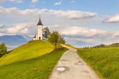Saints Primus and Felician Church in Jamnik. stock photo