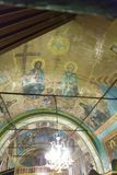 Saints. Painted on Zanoaga church , Olt district , Romania Royalty Free Stock Photo