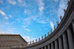 Saints se réunissant à la place de Vatican Images stock