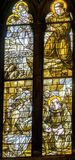 Saints Sick Stained Glass Santa Maria Frari Church Venice Italy Stock Image