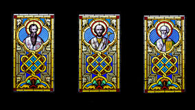 Saints stained glass Royalty Free Stock Images