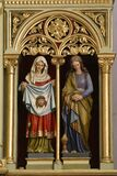Saints Veronica and Mary Magdalene statues on the main altar in the church of St. Stephen the Protomartyr in Stefanje, Croatia
