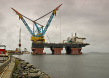 Saipem 7000 is the world's largest crane vessel. Stock Image