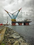 Saipem 7000 is the worlds largest crane vessel Royalty Free Stock Photos