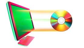 Sair CD imagens de stock royalty free
