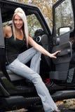 Sair do carro Imagens de Stock Royalty Free