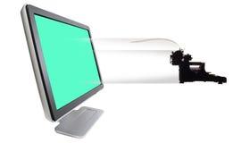 Sair velha da máquina de escrever Fotos de Stock