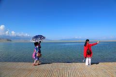Sairam né, Xinjiang, Cina immagini stock