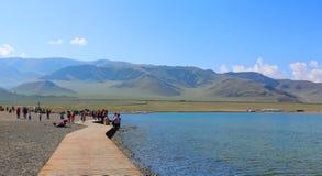 Sairam né, Xinjiang, Cina immagine stock libera da diritti