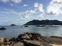 Sairee-Bucht ruhig und ruhig stockfotografie