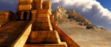 Sairs of Mayan temple Royalty Free Stock Image