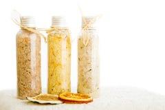 Sais de banho com organge secado Fotografia de Stock Royalty Free