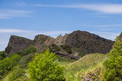 Saisbury Crags Edinburgh in summer Royalty Free Stock Image
