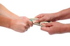 Saisie d'argent Photo libre de droits