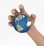 Saisie de la terre illustration libre de droits