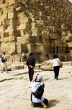 Saisie des pyramides Photos libres de droits